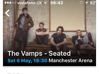 The Vamps Manchester Arena 4 Tickets