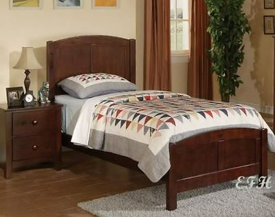 (NEW COTTAGE STYLE BEAD BOARD RICH CHERRY WOOD TWIN BED)