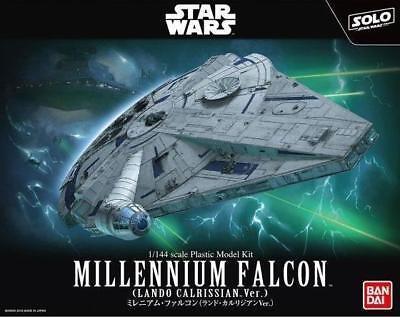 BANDAI Star Wars Millennium Falcon (Lando Calrissian Ver.) 1/144 Scale Kit USA