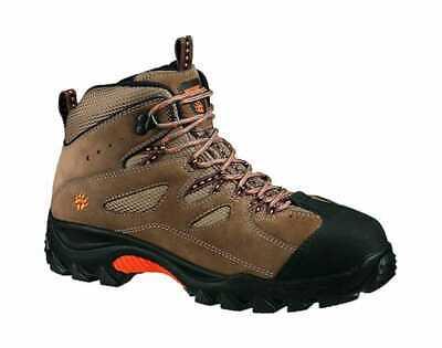 Wolverine Men's Hudson Mid Cut Slip Resistant Hiker Brown/Orange Mid Cut Slip