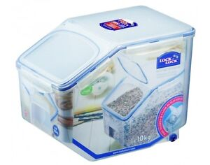 ... Free 12LITRE Caddy Container Rice Flour Container Large Storage   eBay
