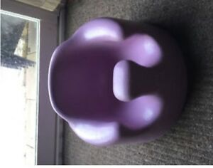 Purple Bumbo Chair with Tray