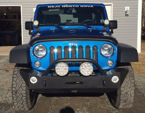 Jeep JK Hidden Winch Bumper