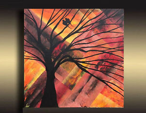 Abstract Bird Painting Modern wall Decor Original Canvas Art Oakville / Halton Region Toronto (GTA) image 1