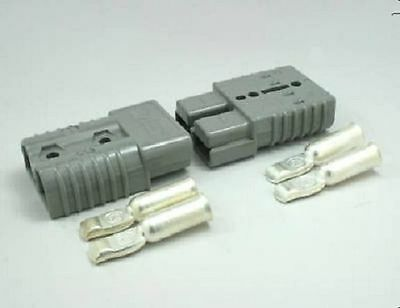 Authentic Anderson SB50 Connector Kit, Gray  6 Awg 6319 2 Pack  2  Connectors