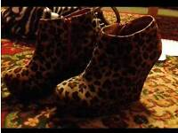 Size 3 Leapord Wedge Heels