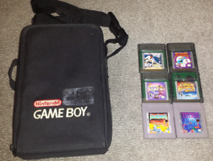 Gameboy Carrying Case and Game Lot