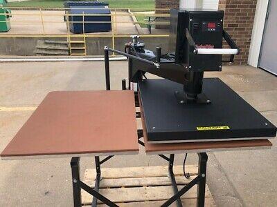Hix Swing Away 25d Heat Press - Dual Platens 20 X 25