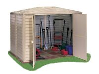 BRAND NEW FLAT PLACKED 8ft x 6ft DURMAX DURMATE PLASTIC SHED