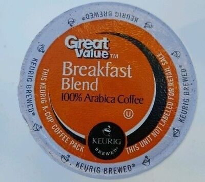 Great Value Breakfast Blend 100 k cups read description