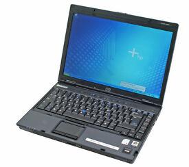 "HP NC6220 14.1"", INTEL 1.73GHz(x1), 2GB, 40GB, WIFI, BLUETOOTH, DVDRW, NEW BATTERY, OFFICE, AVG, W7"