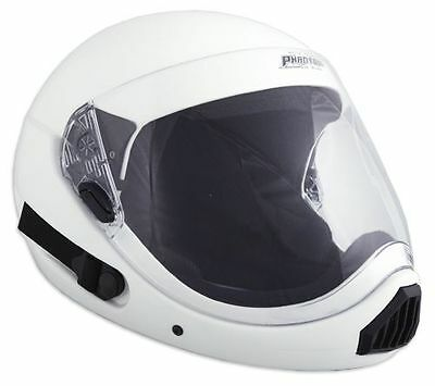 ~ NEW ~ PHANTOM XV ~ Full Face Skydiving Helmet from SQ1~ EXTRA LARGE ~ WHITE