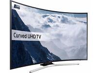 "SAMSUNG UE55KU6100 Smart 4K Ultra HD HDR 55"" Curved LED TV - Black"