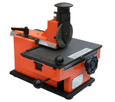 Usa 6mm Nameplate Metal Label Stamping Printer Semi-automatic Marking Machine