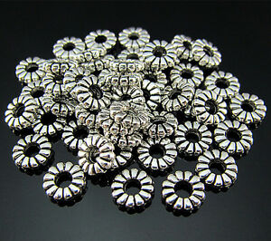 FREE-LOT-50PCS-Crafts-Tibetan-silver-Circle-Findings-Pendant-Ring-Connector-8MM