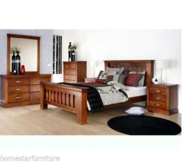 Avatar 6pc Queen Bedroom Suite Solid Timber