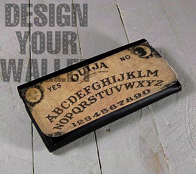Halloween Spirit Board Game (Womens Wallet bifold Leather Ouija board game wallet, halloween spirit)