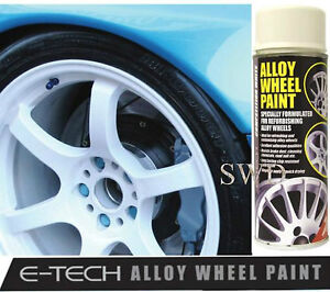 competition white e tech car alloy wheel spray paint 400ml. Black Bedroom Furniture Sets. Home Design Ideas