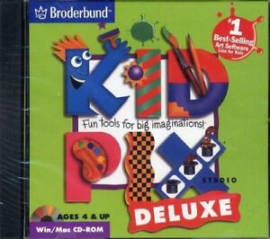 Kid Pix:Studio Deluxe Windows/Mac CD-Rom/Art Software