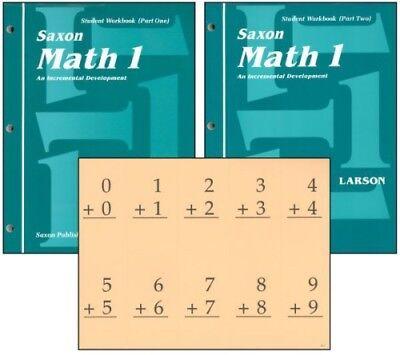 Saxon Math 1 Student Workbooks   Fact Cards Set Homeschool 1St Edition 1St Grade