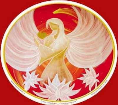 FENG SHUI Fensterbild Lotus LiebesEngel Energie