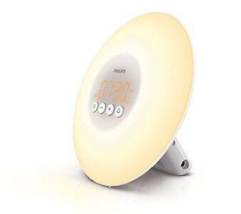 Philips Wake-Up Light Alarm Clock with Sunrise Simulation, W