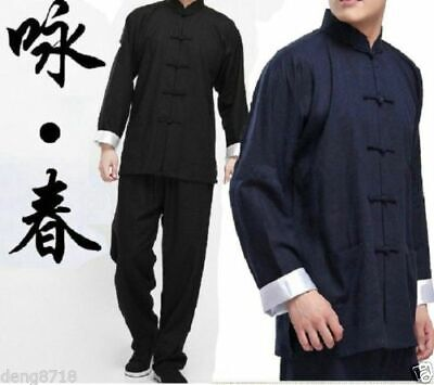 Chinese Kung Fu Wing Chun Bruce Lee Costume Suits Martial Arts Tai Chi - Chun Lee Costume