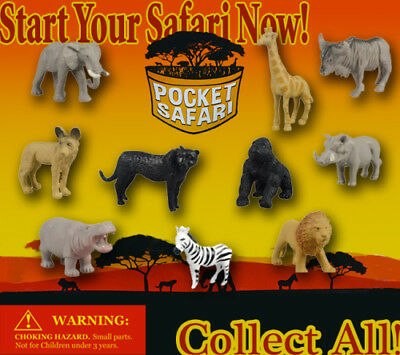250 Pcs Vending Machine 0.500.75 Capsule Toys - Pocket Safari Animals