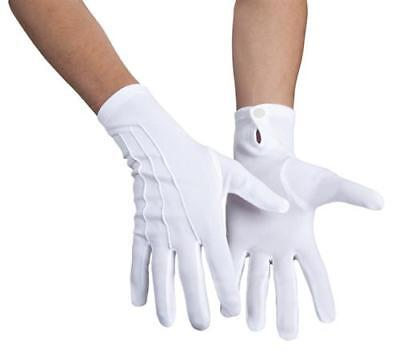 Handschuhe Basic Weiß zum Kostüm Zauberer Weihnachtsmann Show Party ()