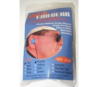 3 Pairs Diy Custom Molded Ear Plugs 3 Colors New Material