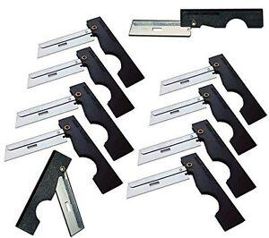 Derma-Safe Folding Utility Razor Knife 10-pack BLACK - HR207