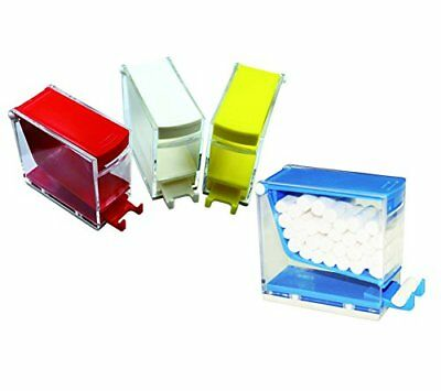 Dental Cotton Roll Dispenser Holder Storage Organizer Box Press Type 4 Colors