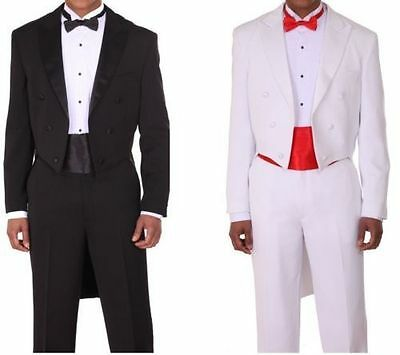 Polyester Gabardine the classic a tail coat Tuxedo with Modern Button - Tux With Tails