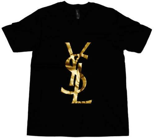 Ysl logo clothing shoes accessories ebay for Who sells ysl t shirts