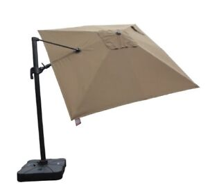 AKZ 10x10 Sunbrella Cantilever and AKZ Sand Base and Cover BEIGE