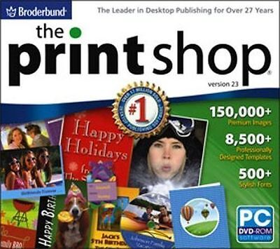 Printshop 23.1 Deluxe 23 Print Shop PC Windows XP Vista Win 7 8 10 New Sealed