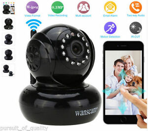 Wireless Security IP Camera Pan / Til View it from SmartPhones..