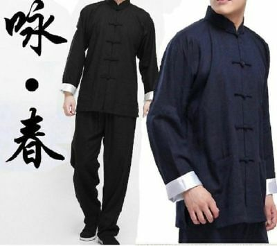 Chinese Kung Fu Wing Chun Suits Martial Arts Tai Chi Uniform Bruce Lee - Chun Lee Costume