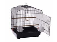 Black Bird Cage (New) Suitable for Finch, Canary, Budgie.