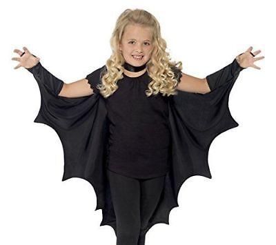 Smiffy's Kids Unisex Vampire Bat Costume Wings Black Halloween Dracula - Vampir Kid Kostüm