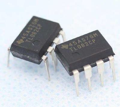 100pcs Tl082 Ti Dip8 Ic Jfet-input Operational Amplifiers New
