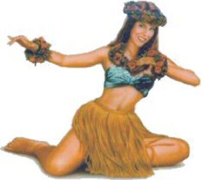 Sexy Michelle Grass Skirt Lei Vinyl Sticker Decal Pair (2) 3