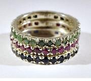 Rubin Ring Silber