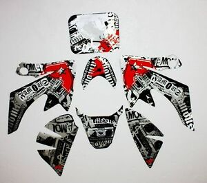 Famous Sticky Decal Graphics Sticker Kit CRF50 Fairing PIT PRO Trail Dirt Bike