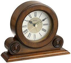 Seiko Desk and Table Alarm Clock Brown Alder Case , New, Free Shipping