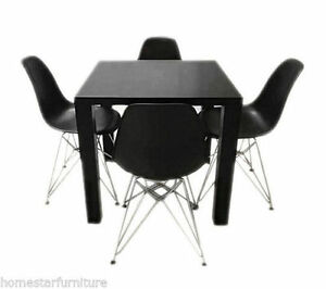 Neo 5 PCS Dining Table with Timber Legs (Table+4 Chairs) Sydney City Inner Sydney Preview