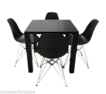 Neo 5 PCS Dining Table with Timber Legs (Table+4 Chairs)