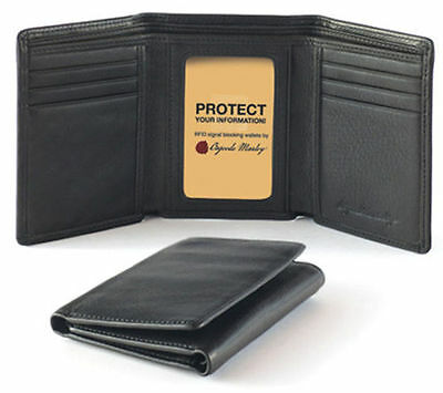 - Osgoode Marley Cashmere RFID Blocking Mens Trifold Leather Wallet 1234