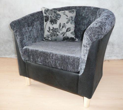 grey tub chair ebay. Black Bedroom Furniture Sets. Home Design Ideas