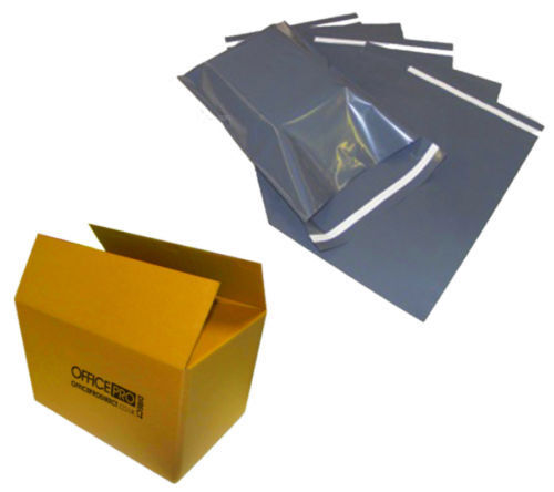 """500 BAGS - 12"""" x 16"""" STRONG POLY MAILING POSTAGE POSTAL QUALITY SELF SEAL GREY"""